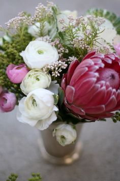 Love proteas! Arrangement by Carter & Cook Event Co.