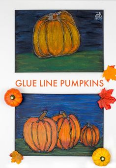 This Glue resist art project for kids is perfect for autumn and fall. The pumpkins look amazing and it is so simple to do. This Glue resist art project for kids is perfect for autumn and fall. The pumpkins look amazing and it is so simple to do. Thanksgiving Art Projects, Fall Art Projects, Projects For Kids, Project Ideas, Preschool Art Projects, Art Activities, Kids Crafts, Crafts Cheap, Glue Crafts