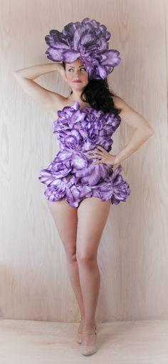 PurpleDerbyIRISFloralBodysuitHigh by bwilkerson74 on Etsy 52f12f97ab99