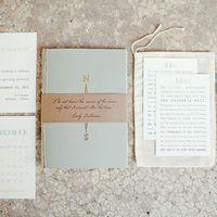 Compass Nautical Wedding Invitations