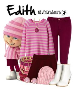 Edith (Despicable Me) ~Neverlandbound 3 People Costumes, Scary Costumes, Diy Costumes, Costumes For Women, Cosplay Costumes, Costume Ideas, Creative Costumes, Gru Costume, Despicable Me Costume