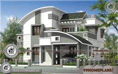 2200 square feet 4 bedroom villa exterior elevation design by R it designers, Kannur, Kerala Indian Home Design, Kerala House Design, Unique House Design, House Front Design, Bungalow Haus Design, Duplex House Design, Villa Design, Plans Architecture, Architecture Design