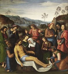 Perugino : The Mourning of the Dead Christ (Deposition) (Galleria Palatina - Palazzo Pitti  (Italy - Florence)) 1448-1523 ペルジーノ