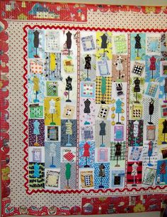 Dressform quilt...I've mentioned that I collect mini dressform quilts, right?