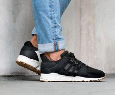 adidas apparecchiature radio in gesso nero sostegno scarpe bianche adidas eqt