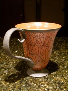 Ceramics Design, Butterfly Sgraffito, Pottery Inpirations, Sgraffito Cup, Cups Runneth, 30 00