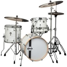 ddrum SE Flyer Drum Bop Kit, White Pearl (£430) ❤ liked on Polyvore featuring white pearl