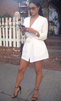 Vestido trench, classy party outfit, all white party outfits, classy outfits, sexy Classy Party Outfit, All White Party Outfits, All White Outfit, Classy Outfits, Sexy Outfits, Sexy Dresses, Casual Outfits, Fashion Outfits, Dress Fashion