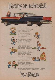 Poetry on wheels! '57 Ford