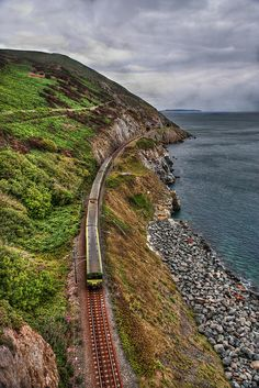 Bray, Ireland. loved riding the train along the coast to Bray's Head ( you even ride past Sting's house)