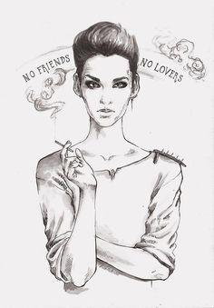 no friends no lovers fan art bill kaulitz