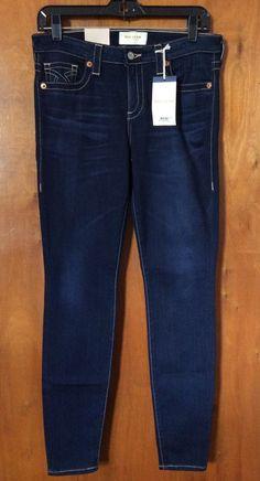 """BIG STAR ALEX Blue Jeans Size 28 Mid Rise Skinny Denim Pant Dark Blue Inseam 30"""" #BigStar #SlimSkinny"""