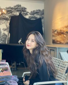 Oh Yeon Seo, Park Min Young, Korean Actresses, Long Hair Styles, Female, Instagram Posts, Cute, Beauty, Kdrama