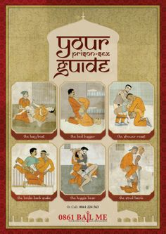 Prison #Sex Guide to promote bail services. Genious. Prison #Kamasutra