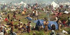 Cette photo illustre le début du génocide Rwandais le 6 avril 1994.