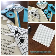 few simple folds result in these super cute origami bookmarks with tons of possibilities!A few simple folds result in these super cute origami bookmarks with tons of possibilities! Origami Design, Instruções Origami, Cute Origami, Origami Ball, Paper Crafts Origami, Origami Videos, Simple Origami, Origami Folding, Oragami