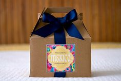 Mexico Wedding Welcome Box Sticker - Topical Destination Wedding Favors - Guest Gift Bag Stickers - Gable Box Labels