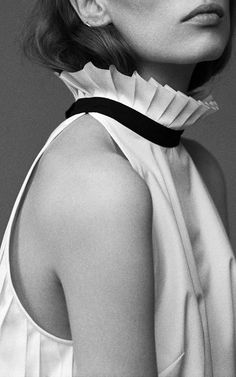 Pleated Sleeveless Shirt by Monographie