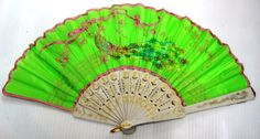 Embroidery silk hand fan Spanish