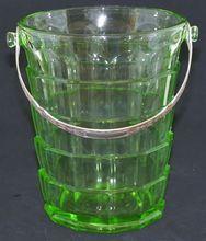 Depression Green Glass Tearoom Ice Bucket
