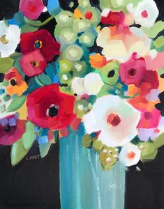 """Daily Paintworks - """"Hankering"""" - Original Fine Art for Sale - © Libby Anderson Abstract Flower Art, Abstract Oil, Fruit Painting, Arte Floral, Fine Art Gallery, Watercolor Paintings, Floral Paintings, Art Paintings, Watercolors"""
