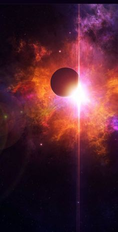 Burning star behind a planet. #Light #Space #Planets #Star #Stars #Planet. http://www.mindblowingpicture.com/wallpaper/space/wp72duua.html