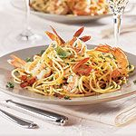 For the simple pleasures of southern Italy's exuberant pasta delights, start with a full-bodied flavourful olive oil then toss with garlic and tender shrimp. For a classic Aglio e Olio, omit the shrimp. Prawn, Shrimp, Canadian Living Recipes, Southern Italy, Simple Pleasures, Tossed, Full Body, Spaghetti, Aglio Olio
