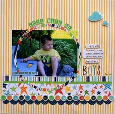 Layout using Echo Park Little Boy Collection