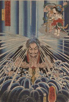 KUNIYOSHI UTAGAWA 「六様性国芳自慢 先負 文覚上人」万延元年(1860)