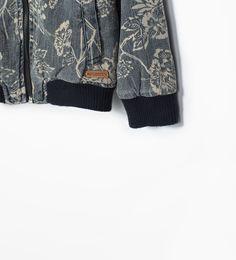 Image 5 de BLOUSON COLLÈGE IMPRIMÉ FLORAL de Zara