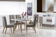 Modernas salas de jantar decoradas de forma simples ~ Decoração e Ideias - casa e jardim