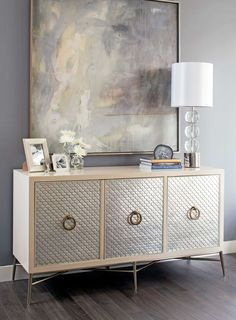 True beauty is in the details of this Salon Media Console from Bernhardt