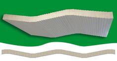 TAVEGO STACK-S ONDA  IL SOLAIO FUORI DALLE RIGHE Nail Laminated Timber (NLT)   Pannello per solai prefabbricati con profilo ondulato a vista, crealizzato utilizzando travetti KVH o tavole C24 certificati connessi con viti in acciaio.