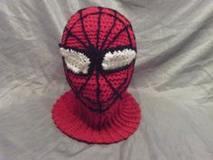 Spiderman Adult slouchy hat convertable functional by luvs2zumba, $45.00
