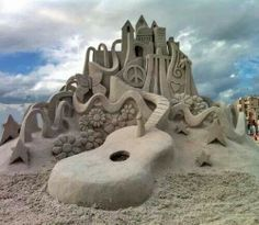 Awesome sand castle art!