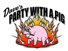 Dave's Party With A Pig! Dropped off a cake at a party with Dave and his fabulous, awesomely tasty, porcine goodness. Now I just have to have a party so I can party with a pig too!