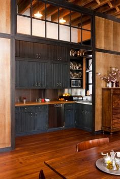 The apartment of Diana Kellogg a NYC based architect - she did good with this kitchen