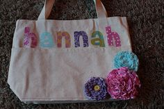 DIY bags with names. I like this idea. Add flowers or star small project & an AHG logo maybe or flag...