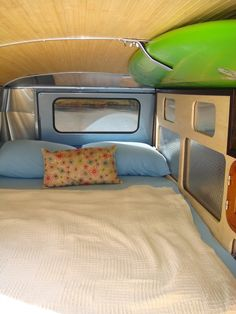 Cozy place to sleep...in a custom 1958 VW Bus!