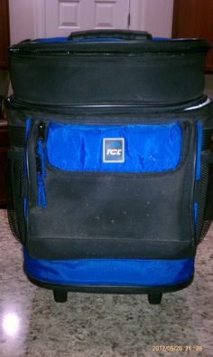 Travel Cooler, can be pulled on it's wheels, or carried back-pack style. Goodwill - $7.99
