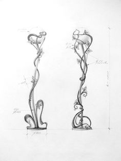 Art Nouveau Design, Design Art, Art Deco, Metal Drawing, Metal Worx, Jugendstil Design, Drawing Letters, Steel Art, Iron Art