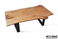 Etz & Steel Java Live Edge Table Black Base #woodslab #woodwork #table #homedecor #furniture #dining