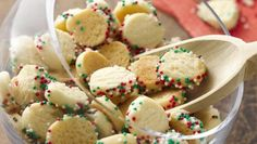 Round out your cookie trays with a homemade bite-size cookie made from just a few ingredients and decorative sprinkles!
