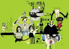 Seite mit Motiven vom Illustrator