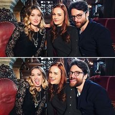 #from @leanneaguilera . A seriously silly time with Sophie and Richard #Outlander . #richardrankin #sophieskelton #briannarandall #rogerwakefield #regrann