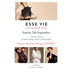 Come join us next Sunday and enjoy shopping all our past collections for only £40 each item #london #londonislovinit #fashion #fashionblogger #fashionista #fashionstyle #fashiontrend #womenfashion #womenswear #womensclothing Evening Wear Tops, Monochrome Color, Crafts Beautiful, Brand It, Fashion Wear, Body Types, Final Sale, New Product, Over The Years