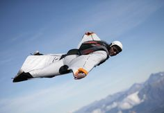 Wingsuit flight (click through for rockin' video!!) ~ If people were meant to fly, why wouldn't they if they discovered how?