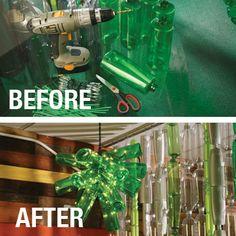 DIY Kronleuchter aus Shampooflaschen -  eine Videoanleitung finden Sie auf unserer TerraCycleCommunity Seite.  PDF Anleitung : http://s3.amazonaws.com/tc-us-prod/download_resource/downloads/1194/Shampoo_Bottle_Chandelier_Instructions.pdf  #TerraCycle #eco #green #greenthinking #fair #nachhaltig #sustainable #plastic #waste #art #recycling #DIY #diy #doityourself #money#nachhaltig #sustainable #plastic #waste #art #recycling #DIY #diy #doityourself #shampoo