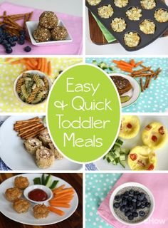 Want fast and fresh food you can feel good about serving your toddler? From instant meals to make-ahead recipes for the whole week, try these quick and easy ideas. http://www.ehow.com/info_8159873_easy-quick-meals-toddlers.html?utm_source=pinterest.com&utm_medium=referral&utm_content=curated&utm_campaign=fanpage