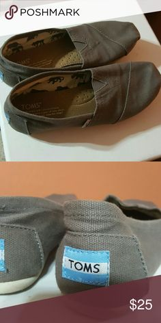 Toms Gray toms , not much used, squished from being in closet, good condition size 6 TOMS Shoes Flats & Loafers